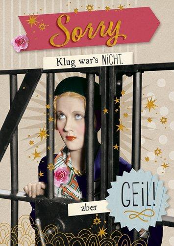 Postkarte A6 +++ LUSTIG von modern times +++ ABER GEIL GOLD +++ BK.EDITION © Pigment Productions Ltd