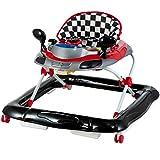 Lauflernhilfe Racer mit Spielcenter (5 Melodien) Gehfrei Gehhilfe Baby Walker in 5 verschiedenen Farben (Schwarz/Rot)