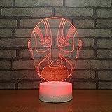 QKAW 3D Optical Illusion Lampe LED Nachtlichter Facebook Nachttischlampe Touch Tischlampe Haus Dekoration 7 Farben Einzigartige Lichteffekte für Kinder Schlafzimmer Weihnachten geschenk