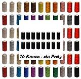 16 Rollen Qualitäts - Overlockgarn - freie Farbwahl - Overlock - Garn - reißfest