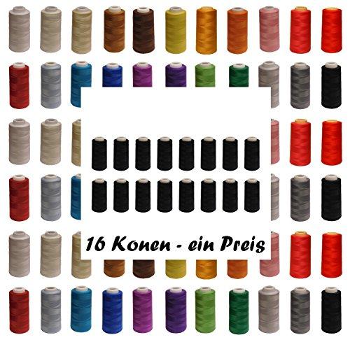 16 Konen Qualitäts - Overlock - Garn - freie Farbwahl - Overlockgarn