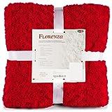 CelinaTex Florenza Kuscheldecke rot 150x200 Flauschige Plüsch Wohndecke kuschelig Microfaser Tagesdecke 5001392