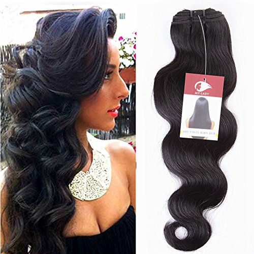 My-lady extension capelli veri tessitura extension mosse matassa vergini 7a 100g 50cm 100% capelli veri naturali umani brasiliani body wave