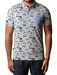88fd4e1a D-Code Mens 1X2257 pique polo shirt short sleeve t-shirt top with scooter