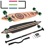 MARONAD Longboard Drop Through Race Cruiser ABEC-11 INDIAN LED und der MARONAD STICK