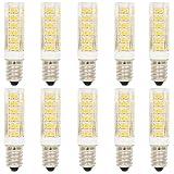 10 Stück 7W E14 LED Lampe Leuchtmittel Glühbirne Energiesparlampe Halogenersatz Leuchte mit 76 SMD 2835,Warmweiß 3000K 27x2835 SMD,500 Lumen,360 Abstrahlwinkel AC 220-240V