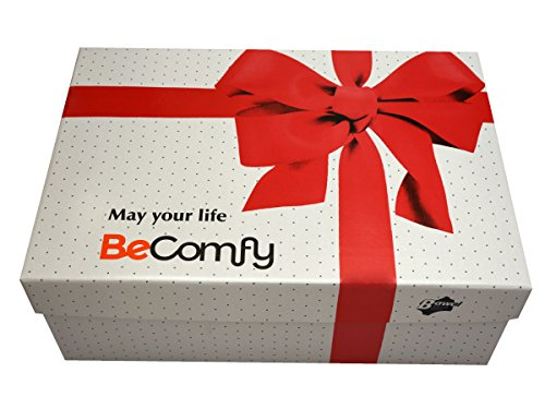 Warme Hausschuhe Damen Herren Hüttenschuhe aus Schafwolle Geschenkkarton (Wahlweise) Creme+Box