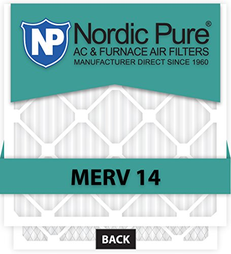 Nordic Pure 29 x 29 x 1customm14–6 Merv 14 AC Ofen Filter, 6 Stück Luft-filter Allergen