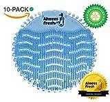Urinaleinlage (Urinalsieb), Geruchsneutralisator mit beliebtem Blaue Lagunenbrise Duft, passend für die meisten Urinale & Pissoirs, einschließlich wasserloser Urinale. 10-Stück Pack - Alwees Fresh