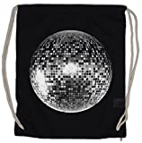 DISCO LIGHT I Bolsa de cuerdas con Cordón Gimnasio Retro Oldies Music Musik Nerd Techno Indie Electro Wave New Hipster Club Clubbing Rave Cyber Dance Mirror Ball Starlight Star 70s 80s 90s