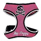 Hip Doggie Totenkopf Brustgeschirr (S) (Pink)
