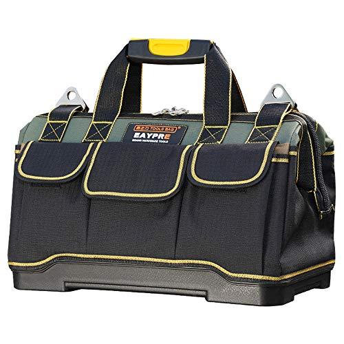 LXB Werkzeugtasche, verdickter Kunststoffboden, doppeltes wasserdichtes Oxford-Tuch, wasserdicht und tragbar, Schlüsselloch-Design-Werkzeuge mit Kunststoffgriffen sind sicherer. (Husky-tool-box Organizer)