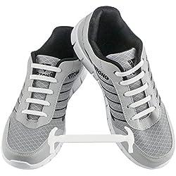 WELKOO® Cordones elásticos de silicona sin nudo impermeables para calzado de adulto -16 pza,Talla ADULTO blanco