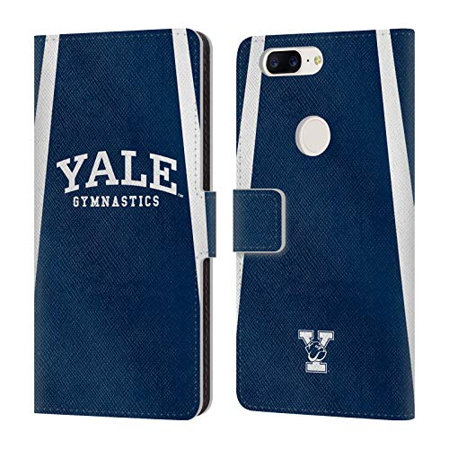 fizielle Yale University Gymnastik 2017/18 Jerseys Brieftasche Handyhülle aus Leder für OnePlus 5T ()