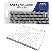 4YourHome Universal Oven Shelf Protectors Rubber Guard Trim to Protect From Burning - 4 Piece Set, 4 x 20cm