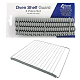 4YourHome Universal Oven Shelf Protectors Rubber Guard Trim to Protect From Burning – 4 Piece Set, 4 x 20cm