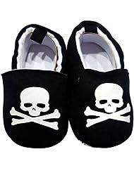 C2BB - Chaussons bébé enfant toile et tissu   Pirate
