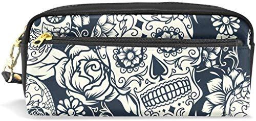 PU Leather Zipper Pencil Bag