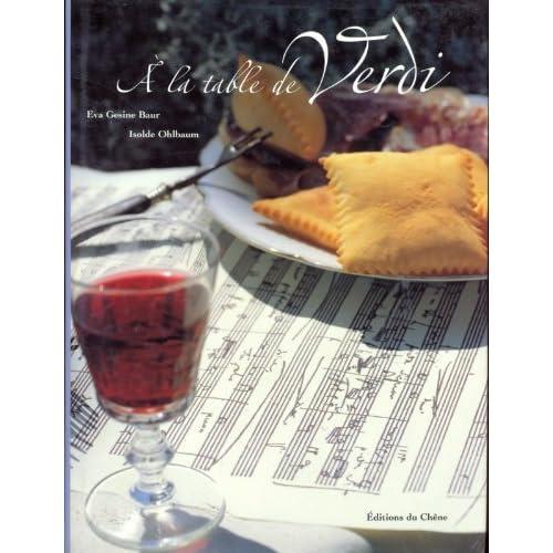 A la table de Verdi. La passion de la musique, le plaisir gastronomique
