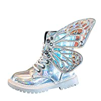 Jooffery Children Girls Boots Toddler Infant Girls Waterproof Booties with Butterfly Wings