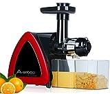 AOBOSI, extractor de zumo (rotación lenta, prensa de zumo que gira lentamente para conservar mejor los nutrientes, el extractor de zumo de frutas y verduras con cepillo de limpieza.
