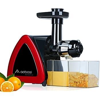 AOBOSI extracteur de jus à rotation lente, le pressoir de jus qui tourne lentement pour conserver au mieux les nutriments, L'extracteur de jus des fruits et légumes avec brosse de nettoyage
