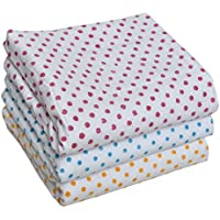 MK HANDICRAFT Set of 3 Pieces Pure Cotton Printed Sheets for Babies (Children: L, Yellow)