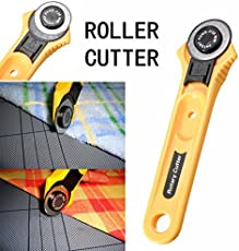 amiciKart® Useful Manual Sewing Roller Cutter Rotary Blade 28 mm Premium Cutter For Quilters Sewing, Fabric, Paper, Leather and Vinyl.