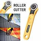 #9: amiciKart® Useful Manual Sewing Roller Cutter Rotary Blade 28 mm Premium Cutter For Quilters Sewing, Fabric, Paper, Leather and Vinyl.