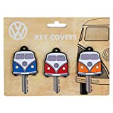 Official VW Volkswagen Campervan Style Colourful Key Covers – 3 Pack