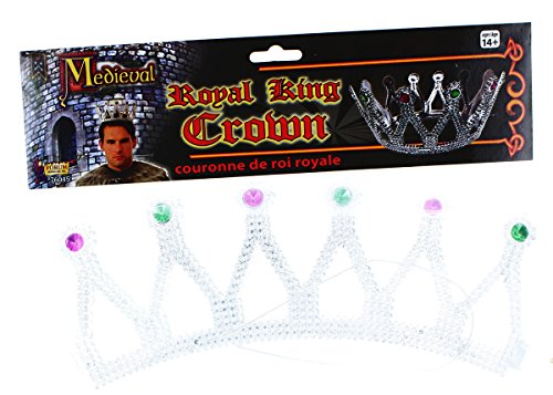 rown Silver With Jewels Adult Men (Silver Kings Crown)