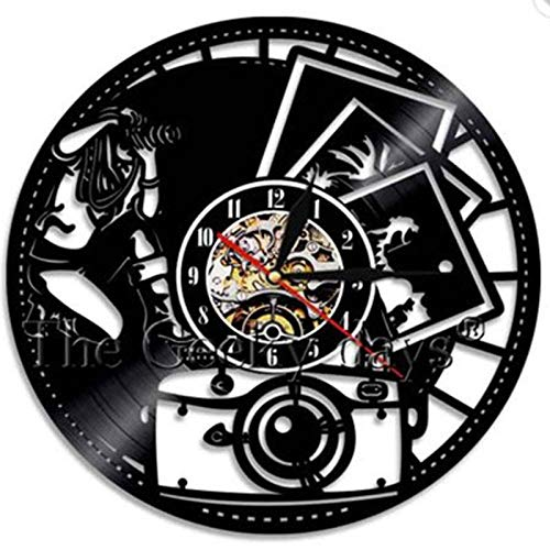 Murale Record Photo 3 Vintage Vinyl Home Theme Aiyoubu Decor Horloge Cd Wall Design Photography Photographer type Clock Take Watch Gifts For SqVpUzM