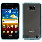 kwmobile Funda para Samsung Galaxy S2 S2 PLUS - Case plástico para móvil - Cover trasero Diseño Marco en azul transparente