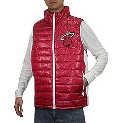 NBA Miami Heat hombre Pro Calidad zip-up a prueba de viento chaleco/chaqueta, NBA, hombre, color - Dark Red, tamaño xxx-large