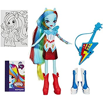 My Little Pony Equestria Girls Includes Accessories Rainbow Dash with Guitar