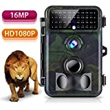 Trail Camera 16MP 1080P Tvird Wildlife Camera No Glow Night Vision Motion Activated