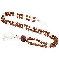 Mogul Interior Tassel Necklace Prayer Mala Surrender to Divine Yoga Jewelry Malabeads Rudraksha Crystal Beads Knotted