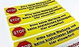4St. Aufkleber - Bitte keine Werbung und keine kostenlosen Zeitungen... 140 x 30 mm (gelb)