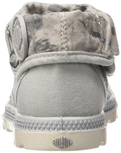 Palladium Unisex-Kinder Baggy Low Zip Lp Sneaker Grau (Vapor/Marshmallow/Floral Print)