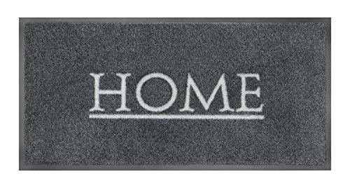 Fußmatte / Schmutzabstreifer / Fussmatte Fussabstreifer Sauberlaufmatte / Türfußmatte / Fußabstreifer / Fußabtreter / Türmatte / Schmutzfangmatte - robuste Fußmatte / Modell Home - grau - grey