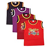#5: Esteem brand Boys and Girls Sleeveless colour inner vests pack of 4 pieces