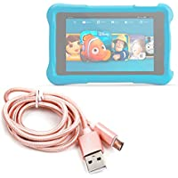 """Rose Gold Micro USB Data Sync Cable for Amazon Fire HD Kids Edition Tablet 6"""" & Amazon Fire HD Kids Edition Tablet 7"""" - by DURAGADGET"""