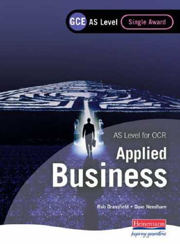 GCE AS Level Applied Business Single Award for OCR by Mr Rob Dransfield (2005-07-07)