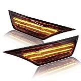 LED Blinker Seitenblinker mit Positionslicht kombiniert mit Zulassung Black Vision