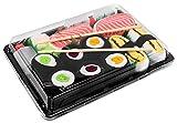Sushi Socks Box - 5 paia di CALZINI SUSHI: Tamago Salmone, Cetriolo Oshinko Tonno Maki, Idea REGALO Divertente, Calze fantasia di COTONE|Dimensioni: EU 41-46, Certificato OEKO-TEX