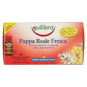 Equilibra Pappa Reale Fresca Integratore Alimentare di Vitamina B5-10 Flaconcini