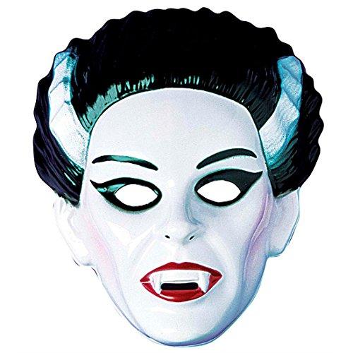 Masque vampire horreur femme visage Dracula effrayante frissons en plastique dur personnage vamp comtesse horrifiante soirée déguisement Halloween