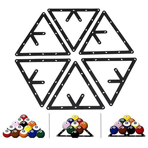 Dioche Billard Rack Halter, 6Pcs Billard Rack Schwarz Dreieck Ball Holder Positionierung Billardtisch Pool Queue Zubehör -