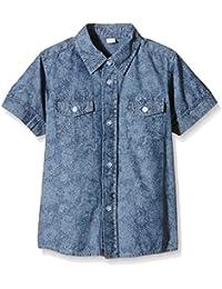 BIMBUS Camicia M/M Chambray Stampata, Camisa para Niños
