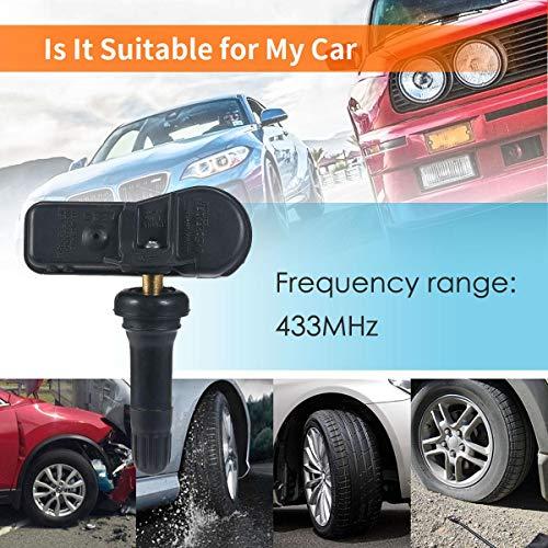 Umiwe 433Mhz Sensore di Pressione Pneumatici, Sistema Controllo Pressione Pneumatici Auto, Tpms per Auto Sistema di Monitoraggio Pressione Pneumatici per Kia Hyundai, OE# 52933-B2100 52933B2100